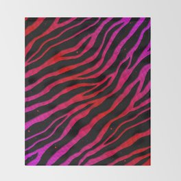 Ripped SpaceTime Stripes - Pink/Red Throw Blanket
