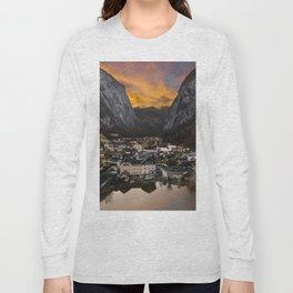 Hallstatt Village in Austria Long Sleeve T-shirt