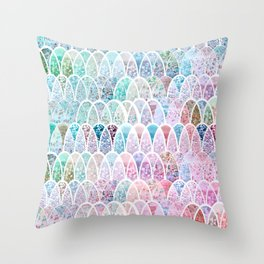 DAZZLING MERMAID SCALES Throw Pillow