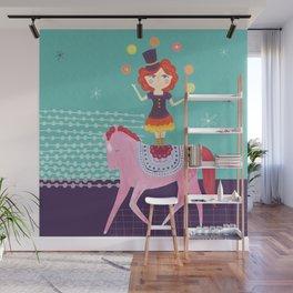 Circus Girl Wall Mural