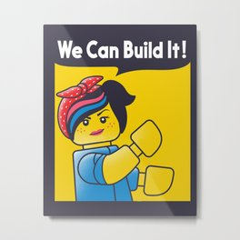 WE CAN BUILD IT Metal Print