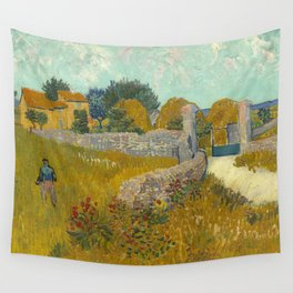 Vincent van Gogh - Farmhouse in Provence Wall Tapestry