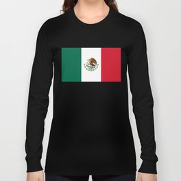 Flag of Mexico - Authentic Scale and Color (HD image) Long Sleeve T-shirt