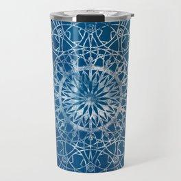 Fire Blossom - Blue Travel Mug