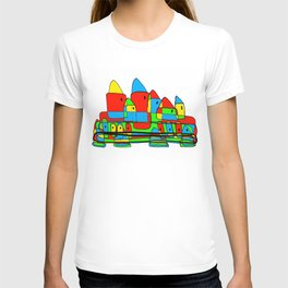 Colored Little Village for Kids T-shirt