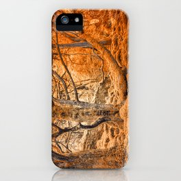 Glowing Amber Forest iPhone Case