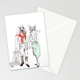 Bestial cricket couple Stationery Cards