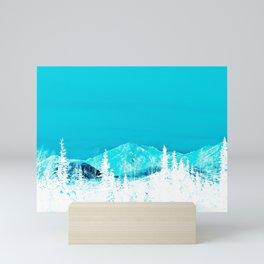 Turquoise Alaska - Pop Art I Mini Art Print