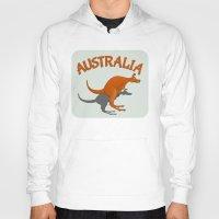 australia Hoodies featuring Kangaroo Australia by mailboxdisco