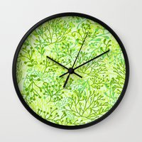 plants Wall Clocks featuring Plants by yaskii