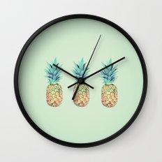 Pineapple, Ananas, Nanas, and Pina Wall Clock
