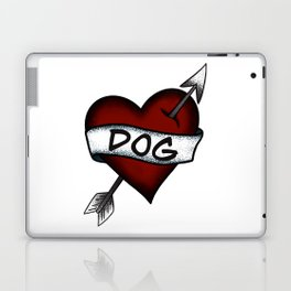 I Love Dog Vintage Heart Tattoo Laptop & iPad Skin