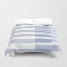 Big Stripes in Light Blue Duvet Cover