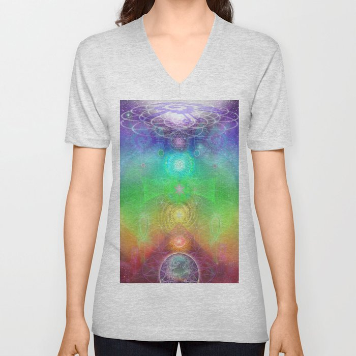 chakra activation geometry template unisex v neck by jahsah society6