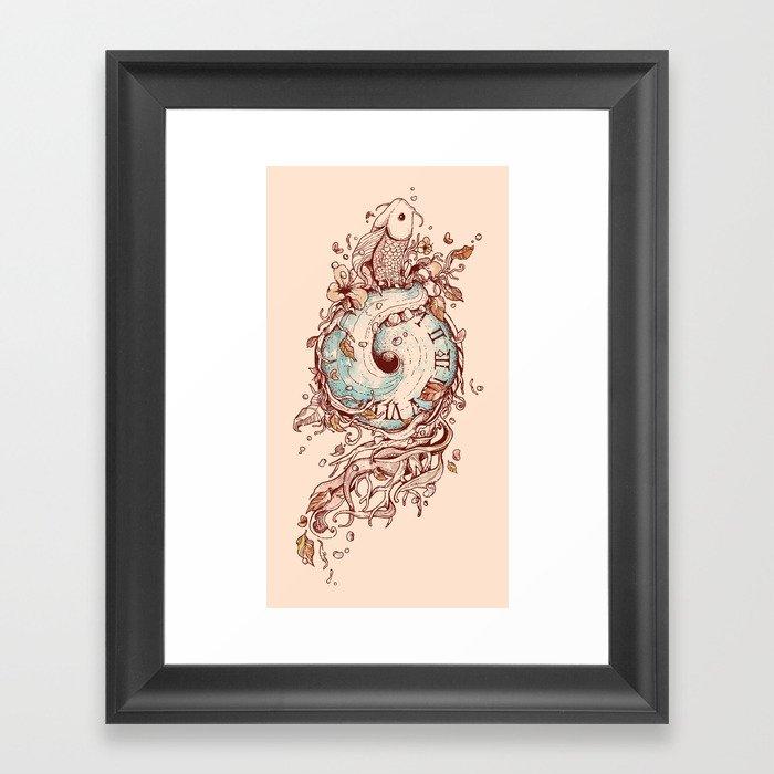 A Temporal Existence Framed Art Print