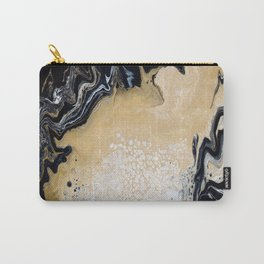 Black Gold: Acrylic Pour Painting Carry-All Pouch