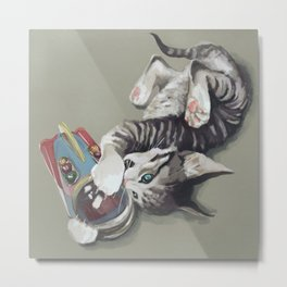 Spaceship kitten Metal Print