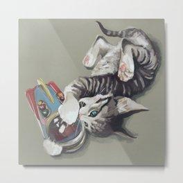 Spaceship kitten Metal Print
