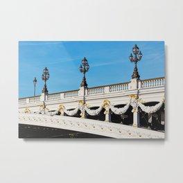 Pont Alexandre IIi - Paris, France Metal Print