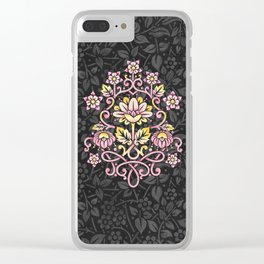 Damask Rose Clear iPhone Case