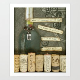 Wine is a Gift Art Print