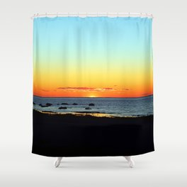 Traditional Seaside Sunset Shower Curtain