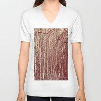 birch V-neck T-shirts featuring Birch by Indigo Rayz