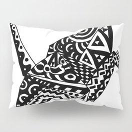 Paper Crane Bird Origami Doodle Pillow Sham