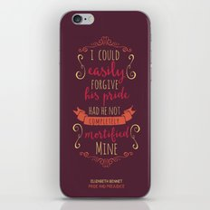 Jane Austen's Elizabeth Bennet iPhone & iPod Skin