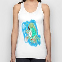 steam punk Tank Tops featuring Whimsical Steam Punk Fish by J&C Creations