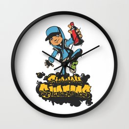 Lab No. 4 - Subway Surfers Game will take your craziness Inspirational Quotes Poster Wall Clock