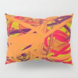 Orange Purple Green & Pink Abstract Pillow Sham