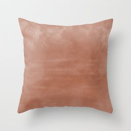 Burst of Color Sherwin Williams Cavern Clay SW7701 Abstract Sponge Watercolor Painting Blend Throw Pillow