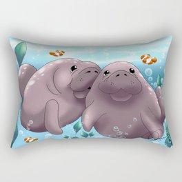 Manatee & Baby Rectangular Pillow