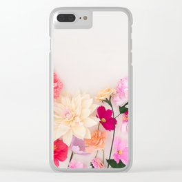 Crepe paper flowers Clear iPhone Case