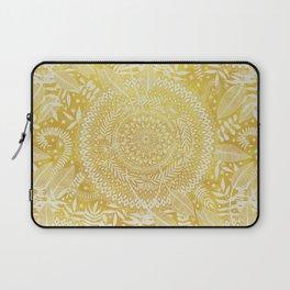 Medallion Pattern in Mustard and Cream Laptop Sleeve