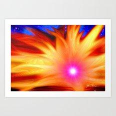Galactic Sunset Art Print