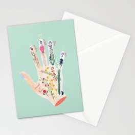 Botanical palmistry Stationery Cards