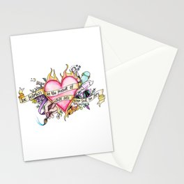 Be Fearless In The Pursuit Of What Sets Your Soul On Fire Stationery Cards