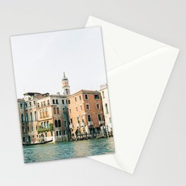 Travel photography | Architecture of Venice | Pastel colored buildings and the canals | Italy Stationery Cards