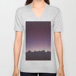 Pink mountains Unisex V-Neck