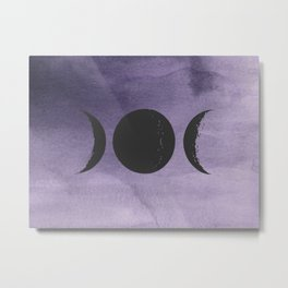 Triple Moon Goddess Metal Print