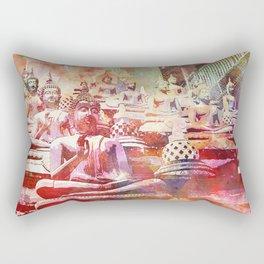 Colorful Buddha  Buddhism Artwork Rectangular Pillow
