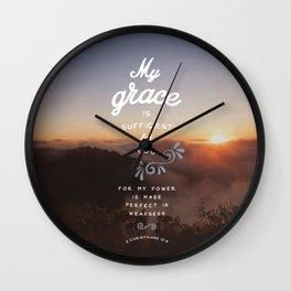 2 Corinthians 12:9 Wall Clock