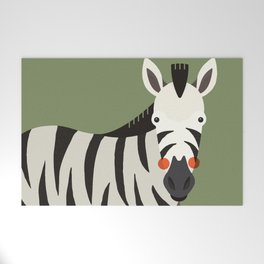 Zebra, Animal Portrait Welcome Mat