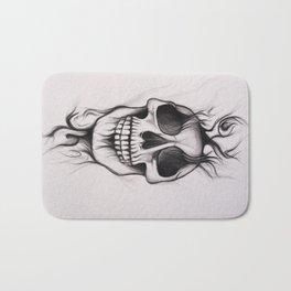 Skull; Drawing Bath Mat