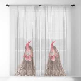 Chicken - Colorful Sheer Curtain