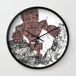 robot showbot Wall Clock