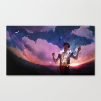 captain silva Canvas Prints featuring Silva by ADRAWER4EVER