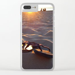 Flip Flops On The Beach Clear iPhone Case